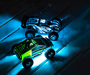mini rc toy cybertruck for kids, ready to run