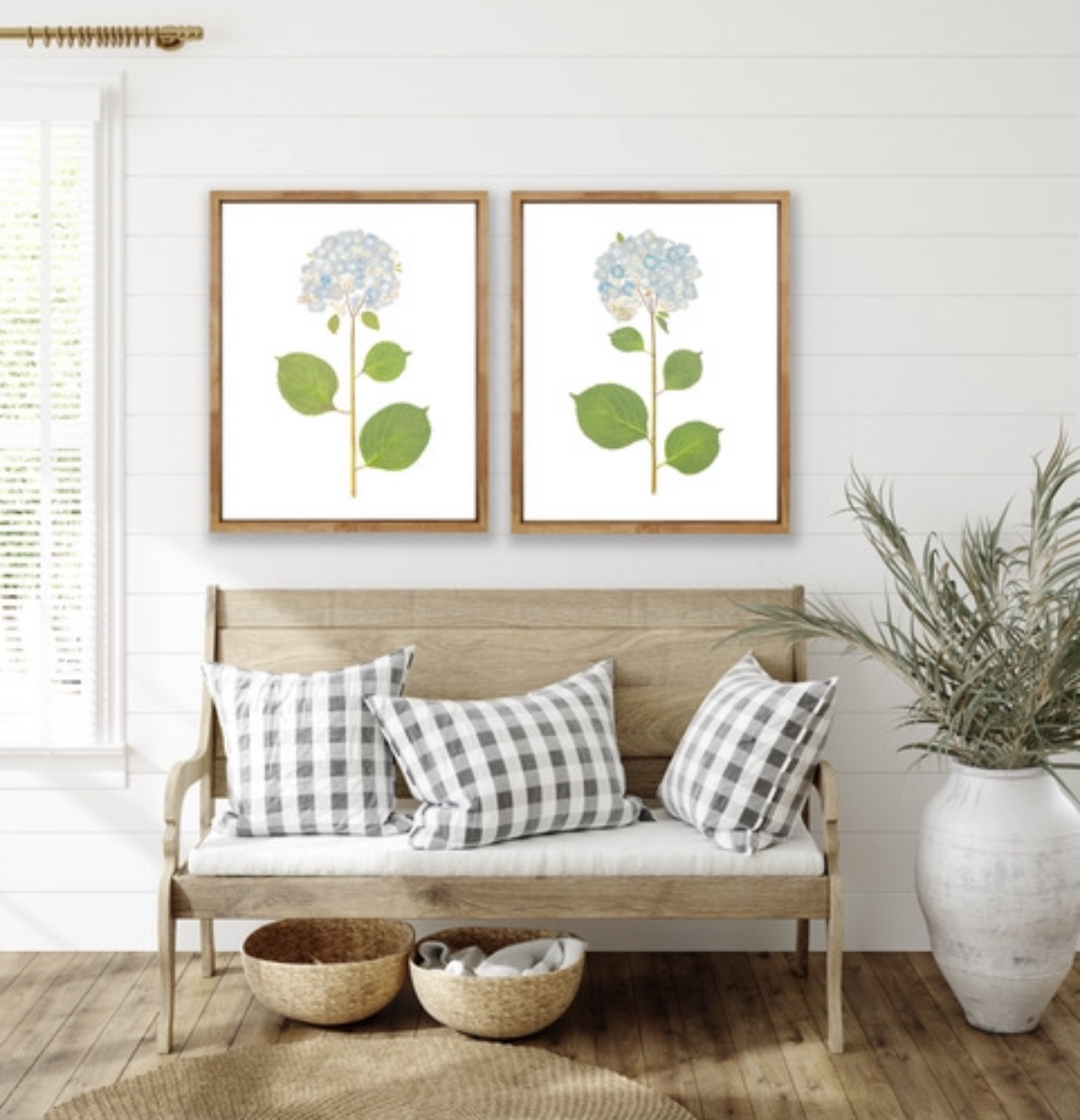 Made from the real pressed flower, these hydrangea prints are incredibly detailed.