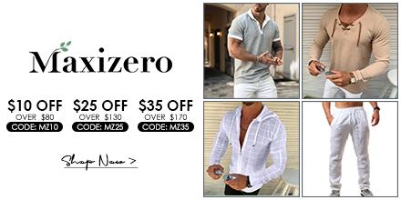 Maxizero.com $10 Off Orders Over $80 Code: mz10