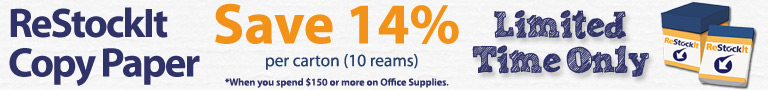 Save 14% on Copy Paper when you spend $150 or more on Office Supplies