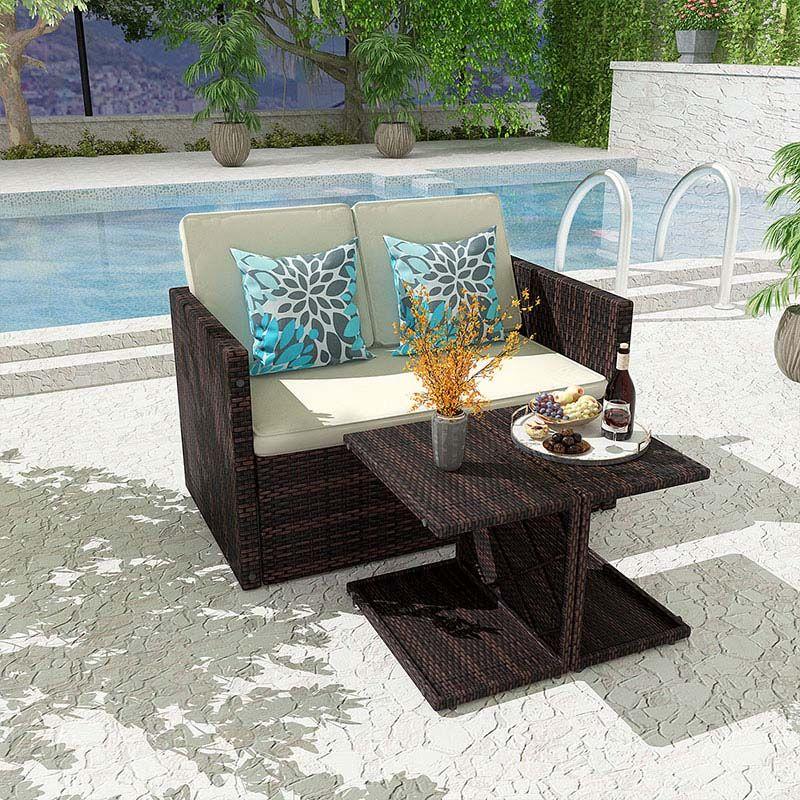 Hot sale! 10% off 4 Piece Rattan Garden Furniture Outdoor Sofa