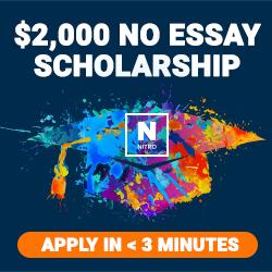 $2000 NO Essay Scholarship - APPLY NOW