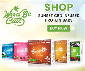Sunset CBD Infused Protein Bars