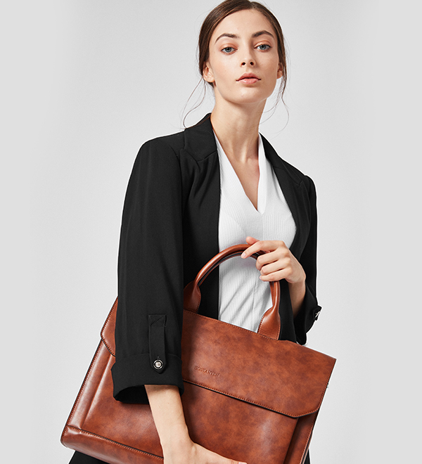 5% OFF for Bostanten Leather Briefcase