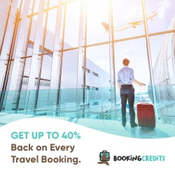 Get up to 40% back on every travel booking - 250 x 250