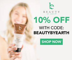 Save 10% On All Orders with code BEAUTYBYEARTH at BeautyByEarth.com!