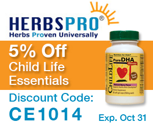 HerbsPro - Save 5% on Child Life Essentials