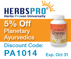 HerbsPro - Save 5% on Planetary Ayurvedics