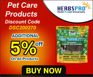 Additional 5% Off on All Pet Care Products - Use Coupon Code DSC200270