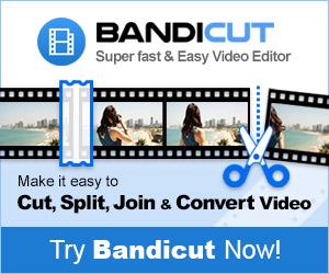 Try Bandicut video editor!