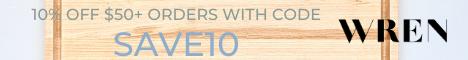 SASCoupons 00 - 10% off $50+ WREN Home orders