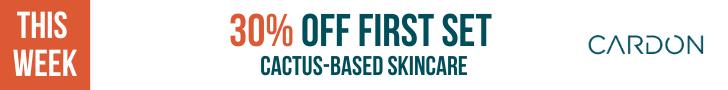 Cardon: 30% Off Your First Skincare Set