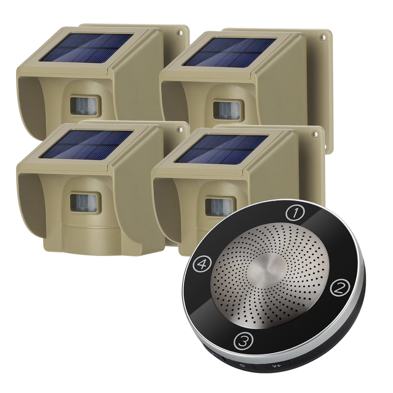 1/2 Mile 4-Zone Solar Driveway Alarm Kit