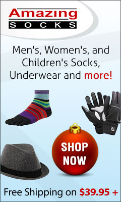 Outfit your whole family in socks, underwear and more at AmazingSocks.com