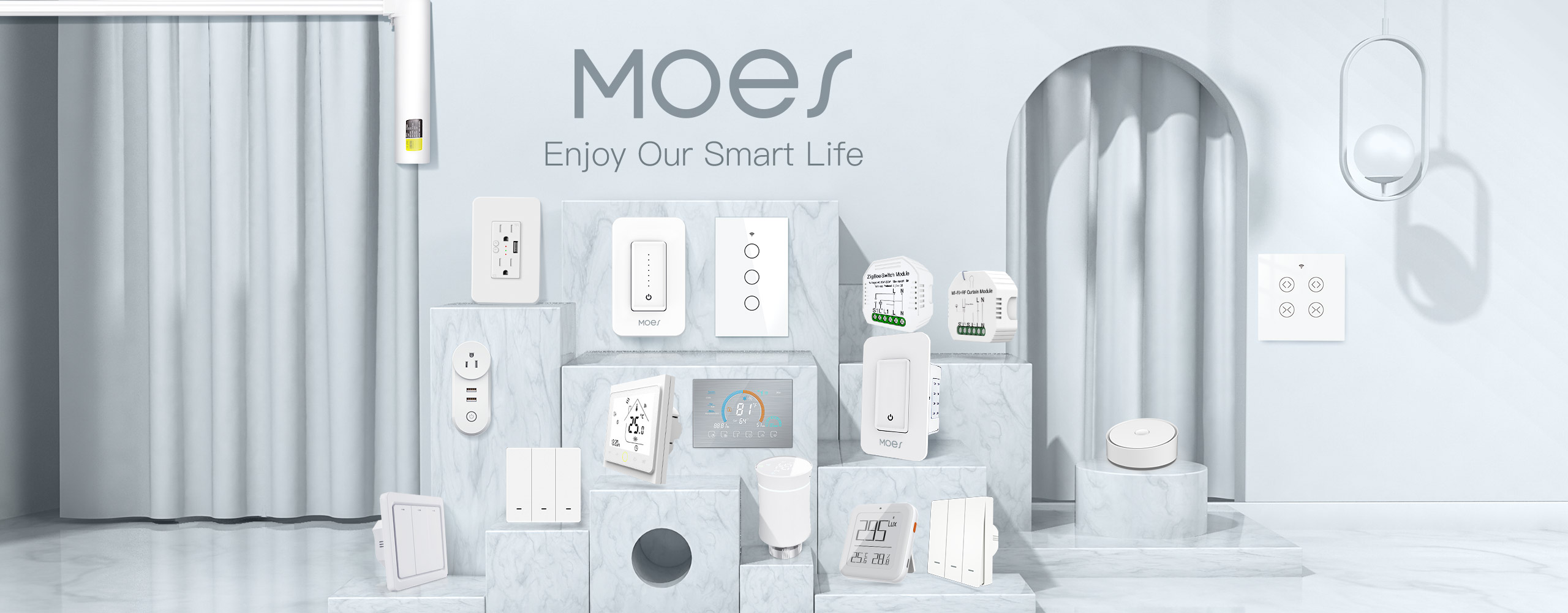 Moes is a brand that devotes ourselves to the design and production of smart home devices for a whole-house intelligent linkage.