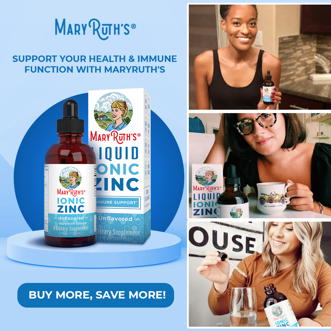 Save up to $24 on Liquid Zinc at MaryRuthOrganics.com through 4/13/21.