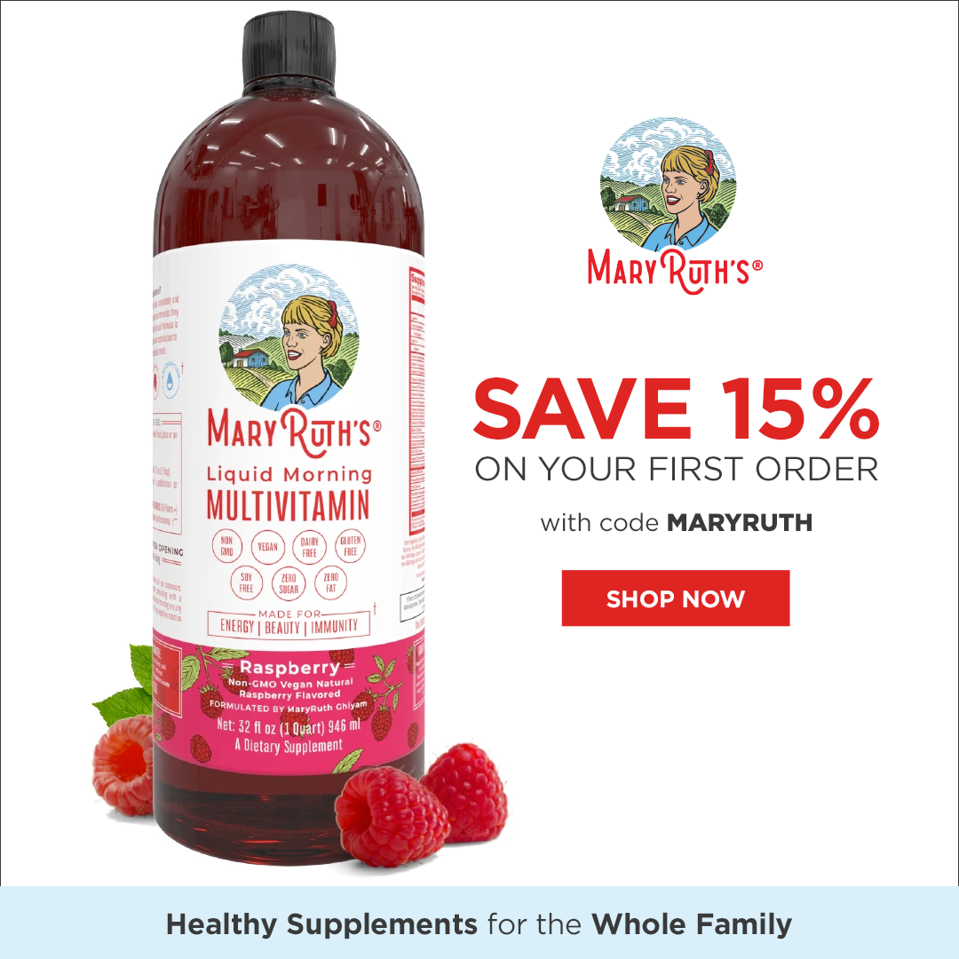 15% Off Your First Order $23.95+ USD with code MARYRUTH at MaryRuthOrganics.com.