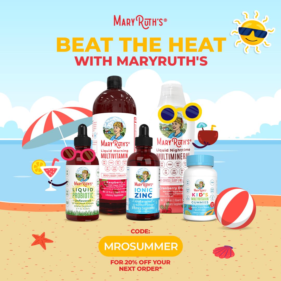 Save 20% with code MROSUMMER at MaryRuthOrganics.com 8/2-8/8/21.