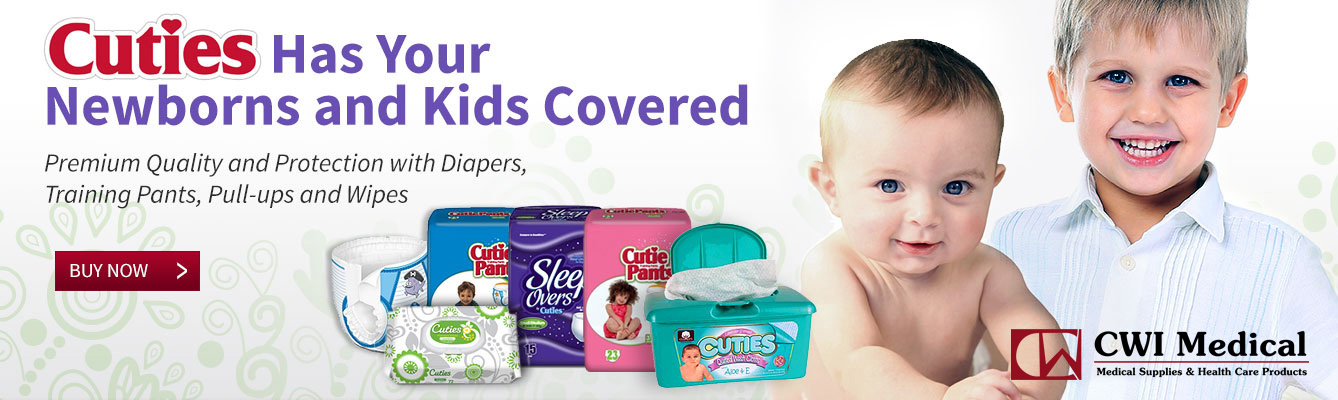 Cuties Baby Diapers and Wipes