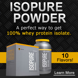 Check out our Isopure Powder today!