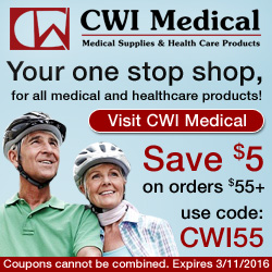 Save $5 at CWI Medical with coupon code CWI55