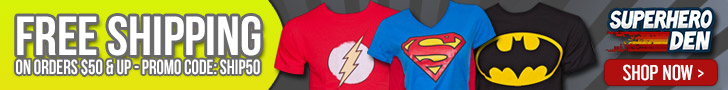 Free Shipping with Super Hero Den Promotion