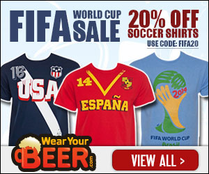 20% Off Word Cup 2014 Clothing with Code FIFA20