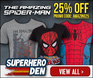 25% Off all Spiderman Apparel and Merchandise with code AMAZING25