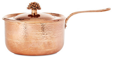 Amoretti Brothers Hammered Copper Sauce Pan