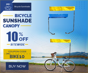 Bicycle Sunshade Canopy 10% Off