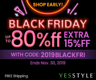 Shop Early! Black Friday Up to 80% OFF Extra 15% OFF with 2019BLACKFRI