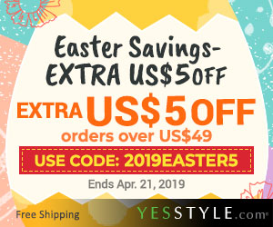 Easter Savings! Extra US$5 OFF with Easter Coupon!
