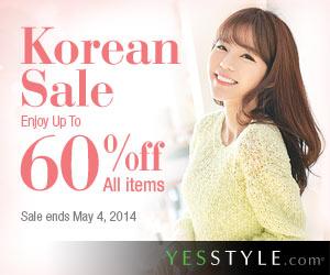YesStyle: FINAL WEEK Of Korean Sale!