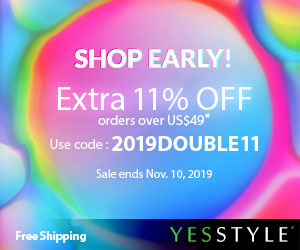 Happy Singles Day Up to 80% OFF + Extra 11% OFF with 2019DOUBLE11