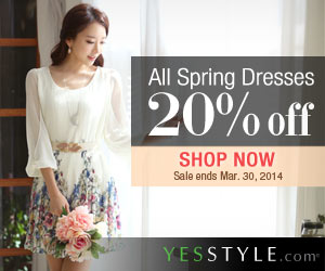 YesStyle: 20% Off Spring Dresses!
