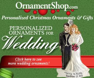 Wedding Christmas Ornaments