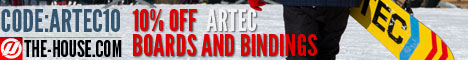 Take an Additional 10% Off Artec Snowboards & Bindings at The-House.com! Use code: artec10