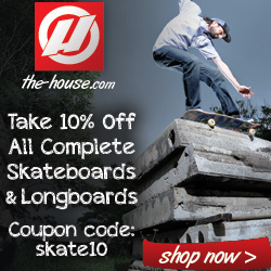 The-House.com: 10% Off Complete Skateboards & Longboards from Gold Coast, Element, Plan B, Girl & Many More!  Coupon Code skate10