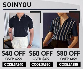 Soinyou.com $60 OFF. Min Spend $399 CODE:SAS60