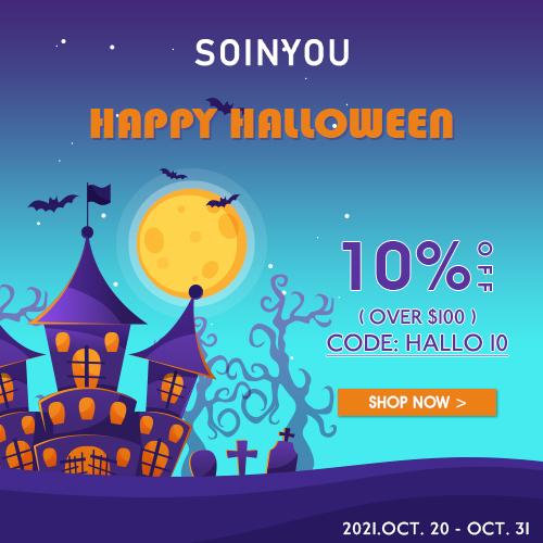 Soinyou Halloween Sale 10% OFF $99,  CODE: hallo10.