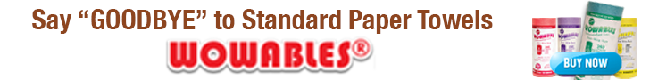 Wowables reusable paper towels
