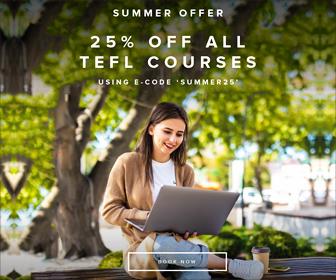 25% OFF all TEFL courses