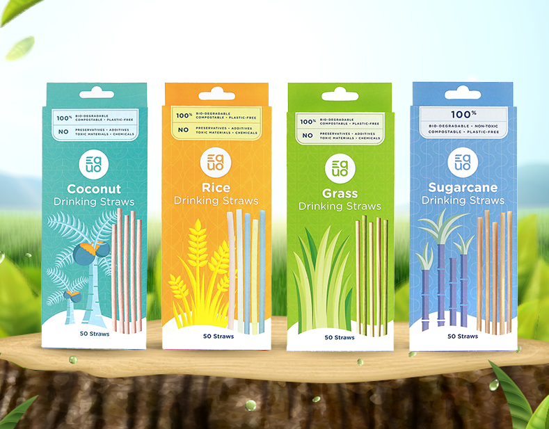 Buy EQUO Rice Straws, Biodegradable, Compostable, and Plastic-Free products