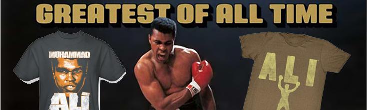 Muhammad Ali T-shirts