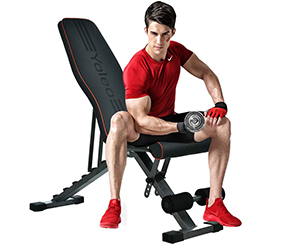 Yoleo Adjustable Weight Bench | 15%off - only £76.99 - 300 x 250