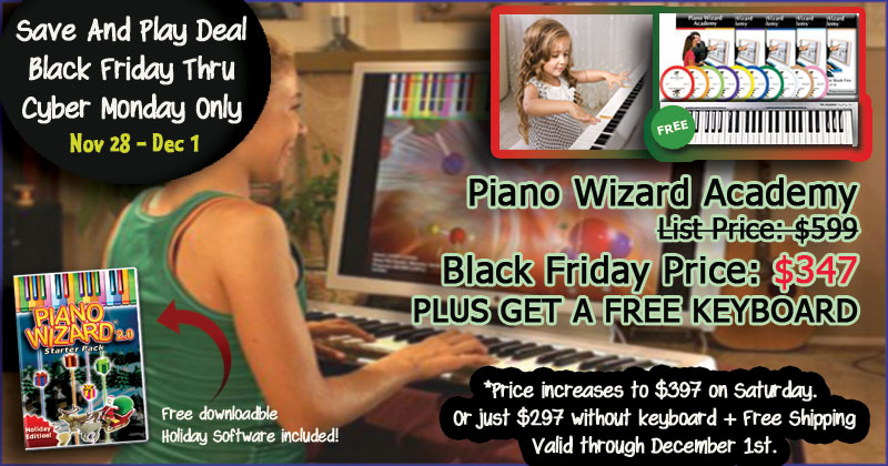 Piano Wizard Black Friday Deal