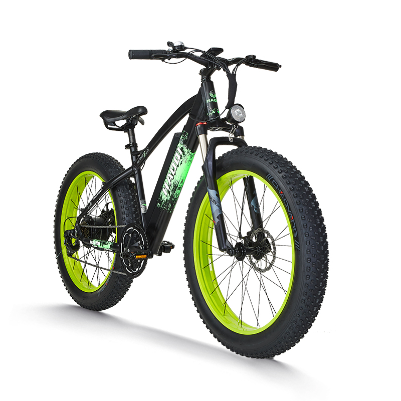Haoqi 750W 48V 16Ah Fat Tire Electric Bike All Terrain Black Leopard - 800 x 800
