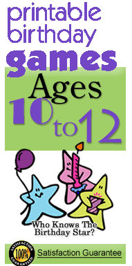 Party games age 10-12