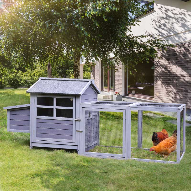 Aivituvin Wooden Large Chicken Coop for 2-3 Chickens-AIR44