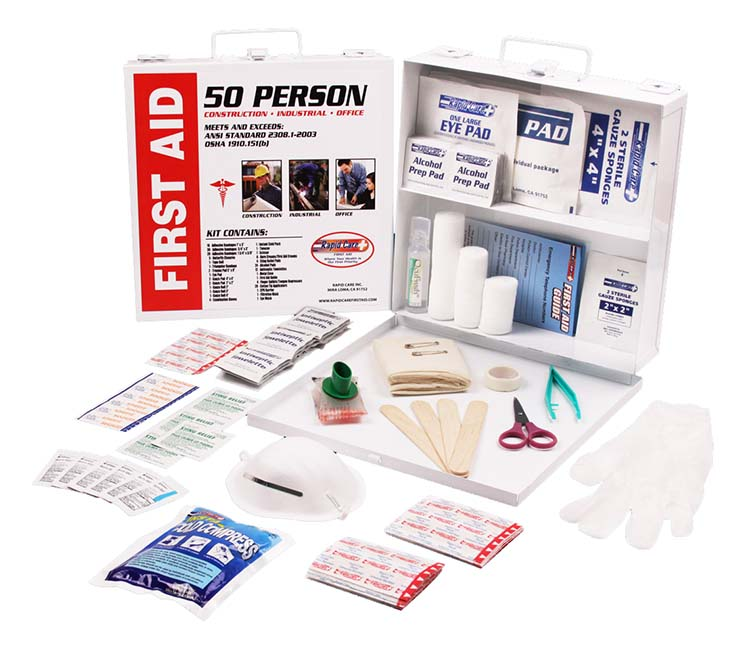 50 Person First Aid Kits - 750 x 655